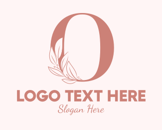 Aesthetics - Elegant Leaves Letter O logo design