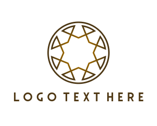 Fashion Label - Golden Brown Circle logo design