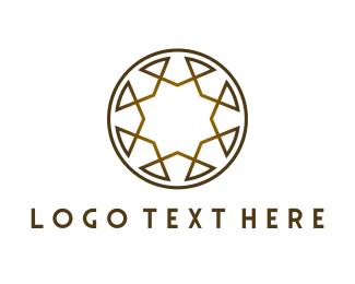 Golden - Golden Brown Circle logo design