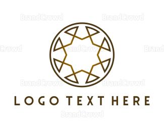 Beautify - Golden Brown Circle logo design