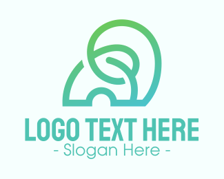 Zoo Animal - Modern Abstract Gradient Elephant logo design