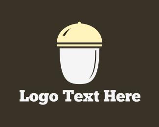 Acorn - White Acorn logo design