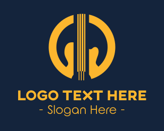 String Instrument - Guitar String logo design