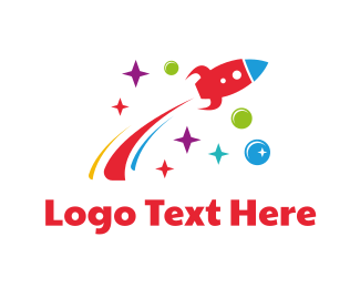 Takeoff - Flying Rocket logo design