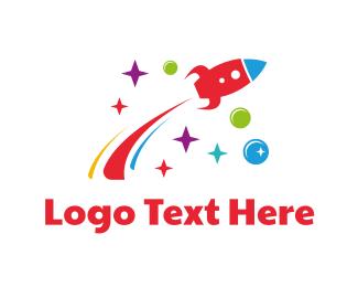 Astral - Flying Rocket logo design