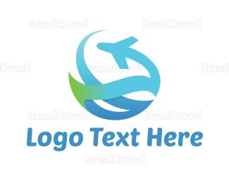 Flyer - Abstract Plane logo design