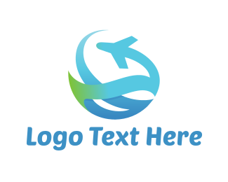 Flight - Abstract Plane logo design