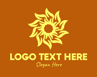 Solar Panel - Yellow Sunflower Energy logo design