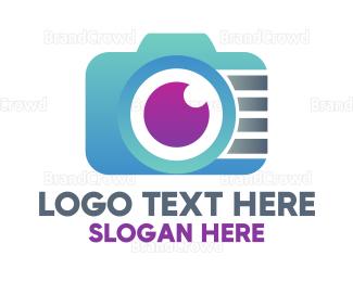 Electronics Boutique - Gradient Tech Digicam logo design