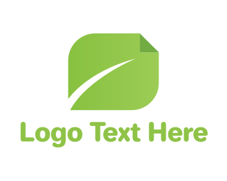 Green Book - Page Leaf logo design