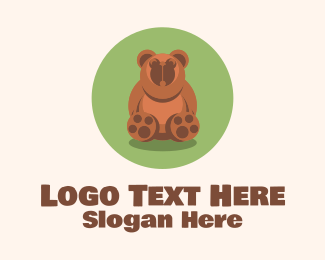 Cuddly - Cute Brown Bear  logo design
