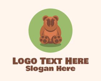Teddy - Cute Brown Bear  logo design