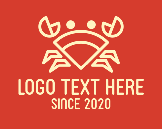 Chilli Crab - Geometric Crab logo design
