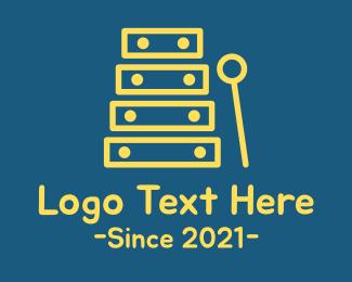 Instrument - Minimalist Xylophone Instrument logo design