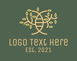 Hereditary - Minimalist Shrub DNA logo design