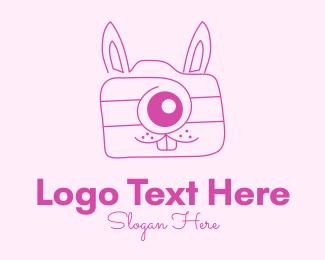Image - Pink Bunny Camera logo design