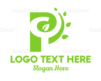 Organic Food - P Nature logo design