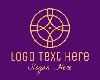 Relic - Gold Monoline Elegant Circle logo design