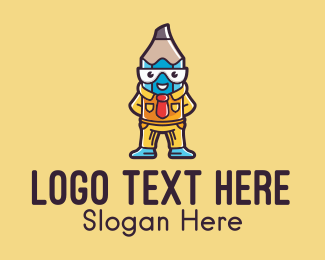 Intelligent Pencil Mascot Logo