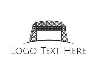 Bridge - Black Bridge  logo design