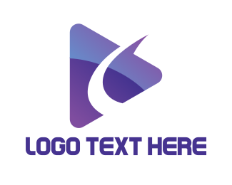 Youtube - Purple Swoosh Media logo design