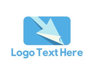 Cursor - Blue Click logo design