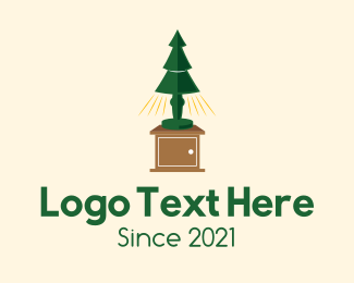 Furniture Store - Christmas Lamp logo design