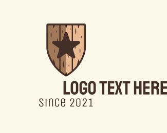 Bark - Star Wood Shield logo design