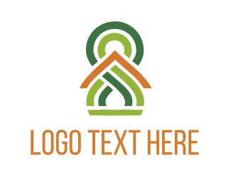 Save - Green Pattern logo design