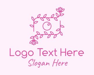 Camera Repair - Beauty Photographer Camera Flower logo design