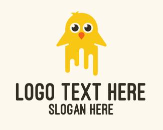 Drip - Painting Yellow Chicken logo design