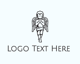 Angel - Praying Angel  logo design