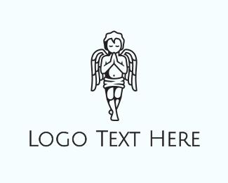 Cupid - Praying Angel  logo design