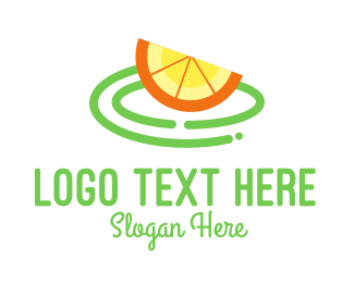 Lemon Juice - Fresh Orange Slice logo design