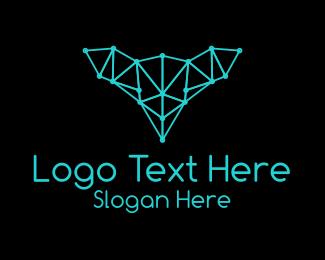 Doe - Blue Deer Plexus  logo design