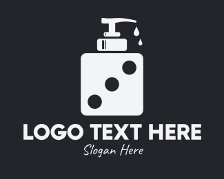 Shampoo - Dice Liquid Soap logo design