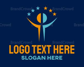 Man - Star Man logo design