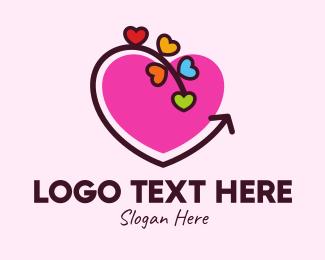 Hearts - Family Love Hearts logo design