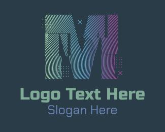 Fortnite - Modern Glitch Letter M logo design