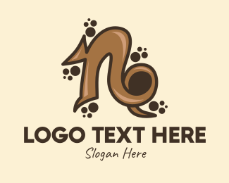Typography - Chocolate Letter N logo design
