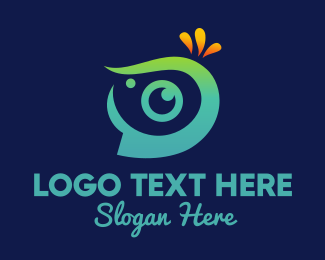 Instagram - Tropical Eye Camera logo design