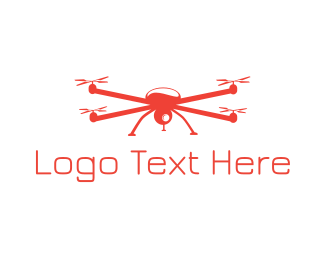 Drone - Red Drone logo design