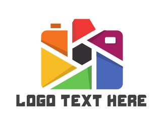 Focus - Colorful Camera logo design