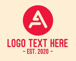 Investment - Digital Red Letter A logo design