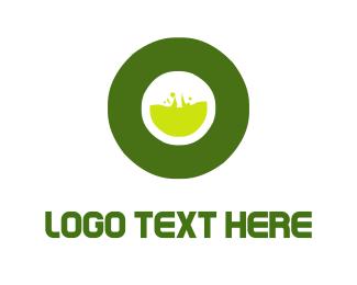 Corrosive - Toxic Letter O logo design