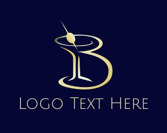 Olive - Martini Letter B logo design