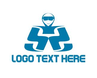 Sunglasses - Man Letter S logo design