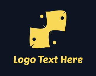 Twin - Yellow Fish Pattern logo design