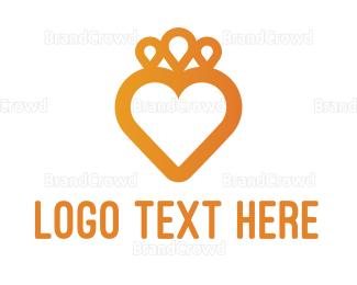 Crown - Heart Crown logo design