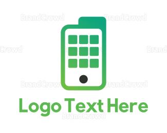 File Transfer - Green Mobile Documents logo design